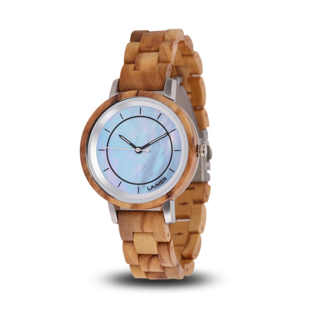 Drevené hodinky Klarissa