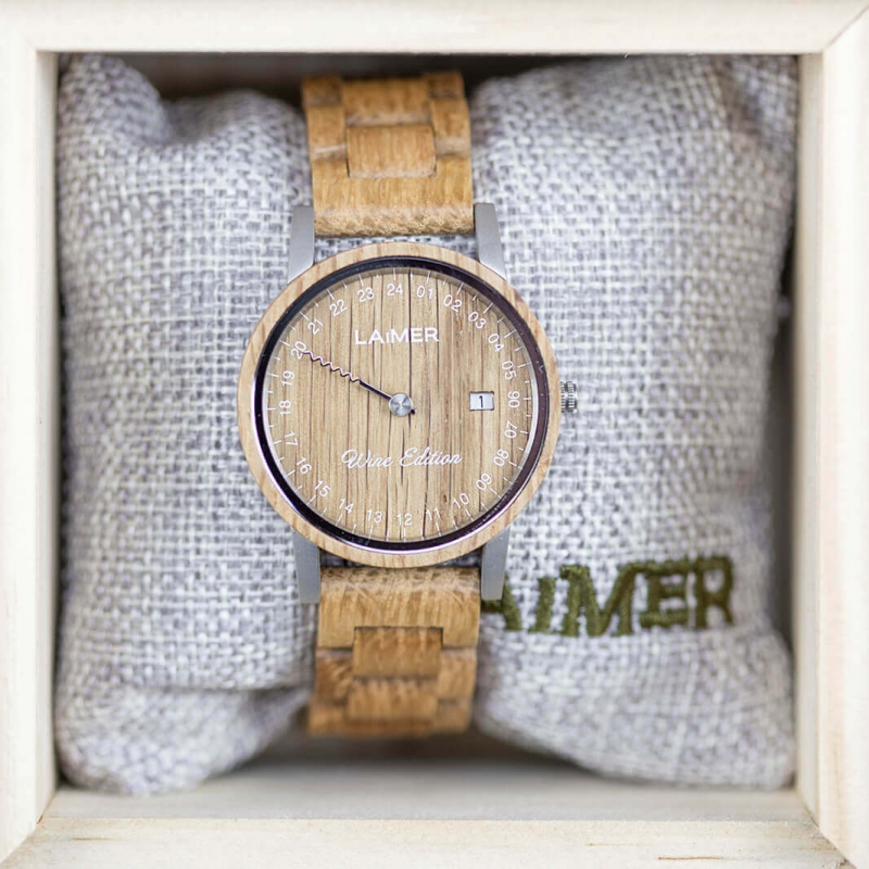 Drevené hodinky Wine Edition Women