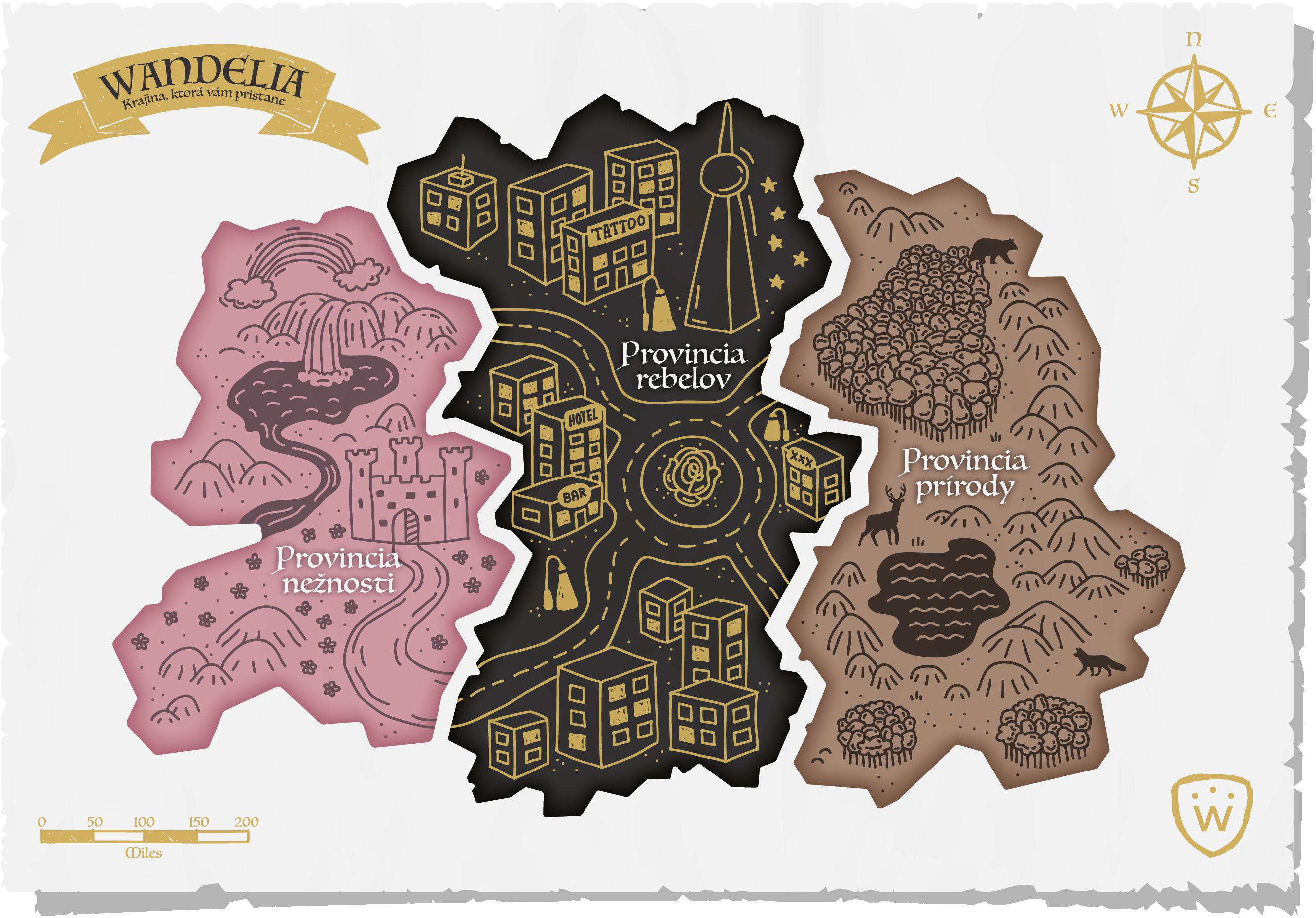 Mapa Wandelie