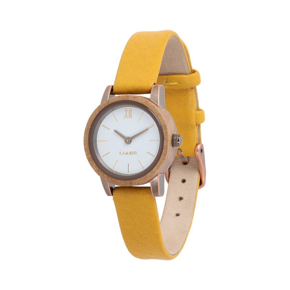 Drevené hodinky Flora